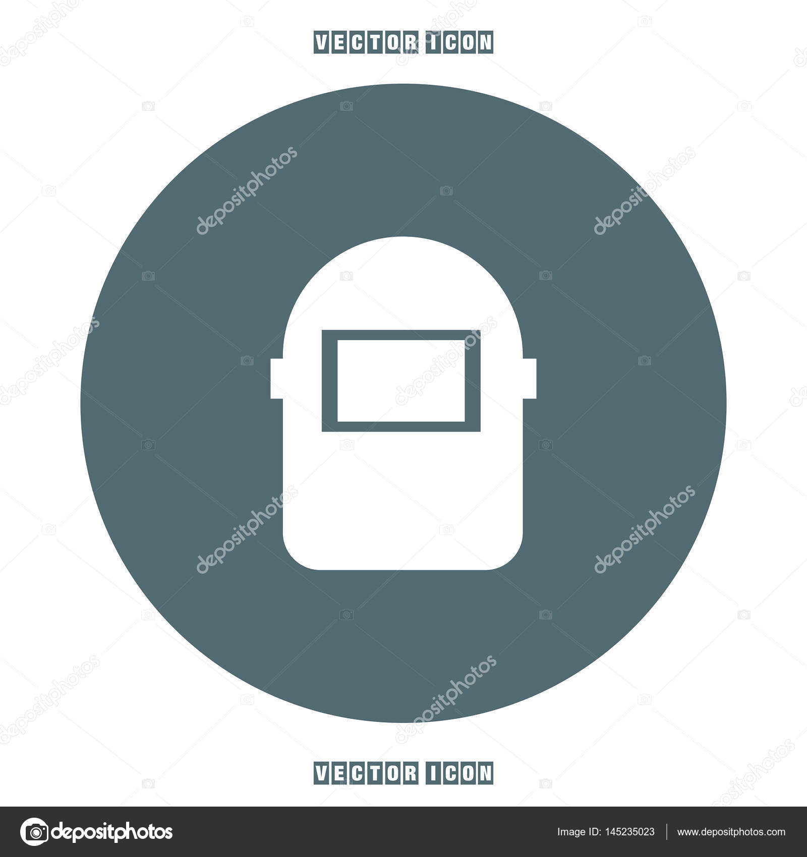 Welding Mask Icon Stock Vector Quka 145235023 Helmet Diagram
