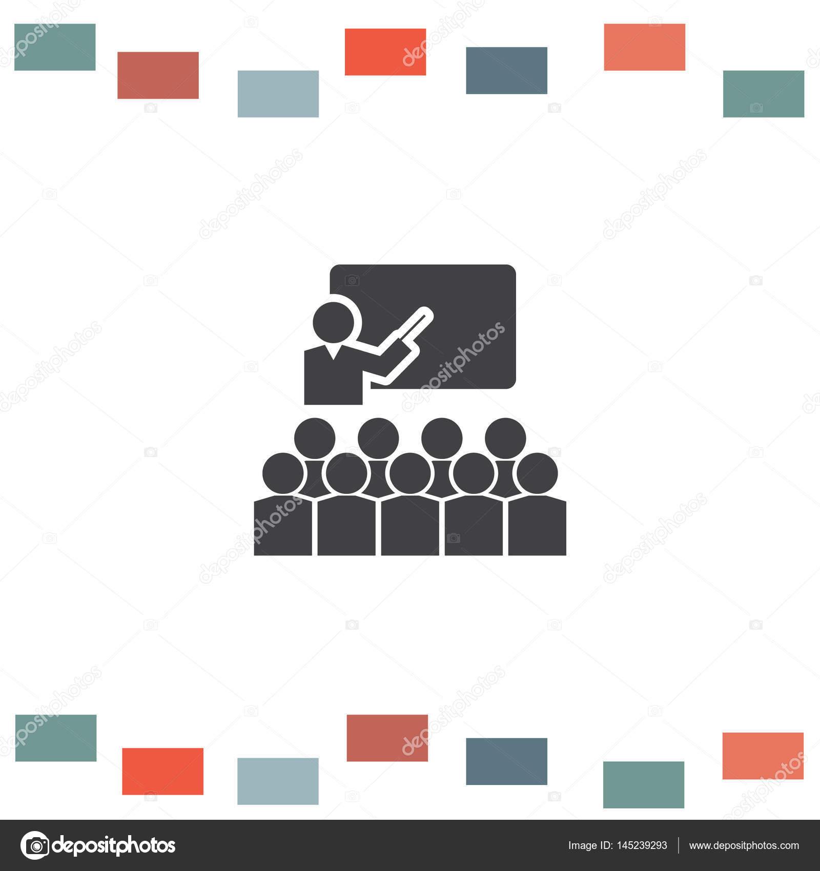 Schüler im Klassenzimmer-Symbol — Stockvektor © quka #145239293