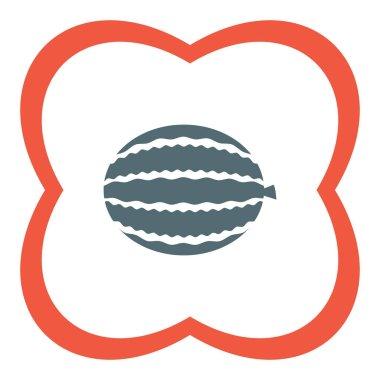 Ripe watermelon icon