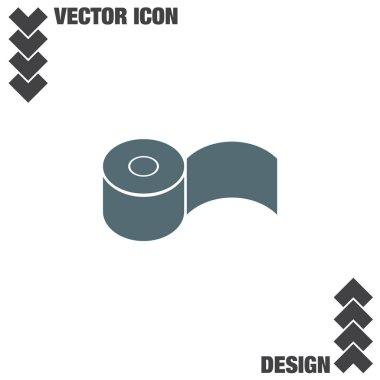 toilet paper flat icon