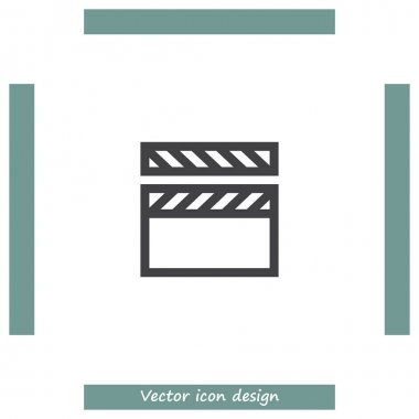 Video clapper icon.