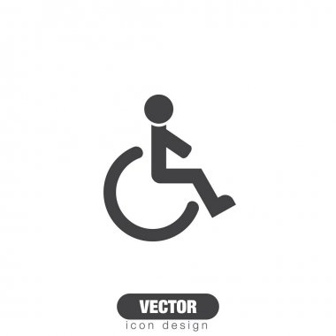 Wheelchair sign line  icon.