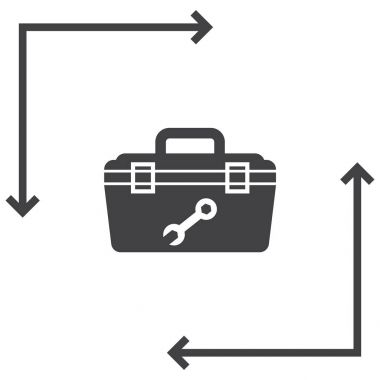 Tool box  icon, vector illustration stock vector