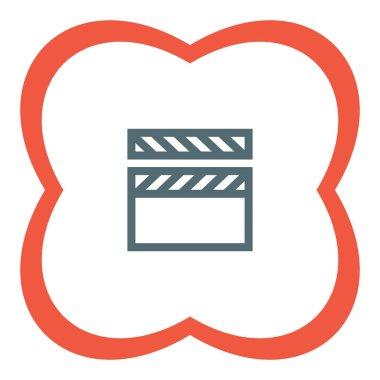 Video clapper icon.