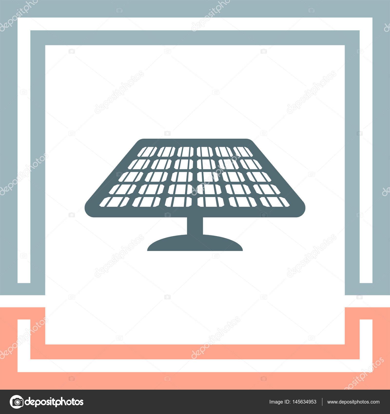 Solar Energy Panel Icon Stock Vector Quka 145634953