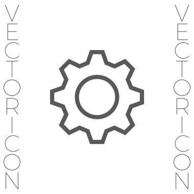 Settings gear line icon