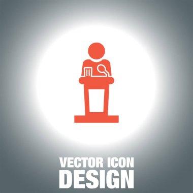 Podium icon public speaking icon