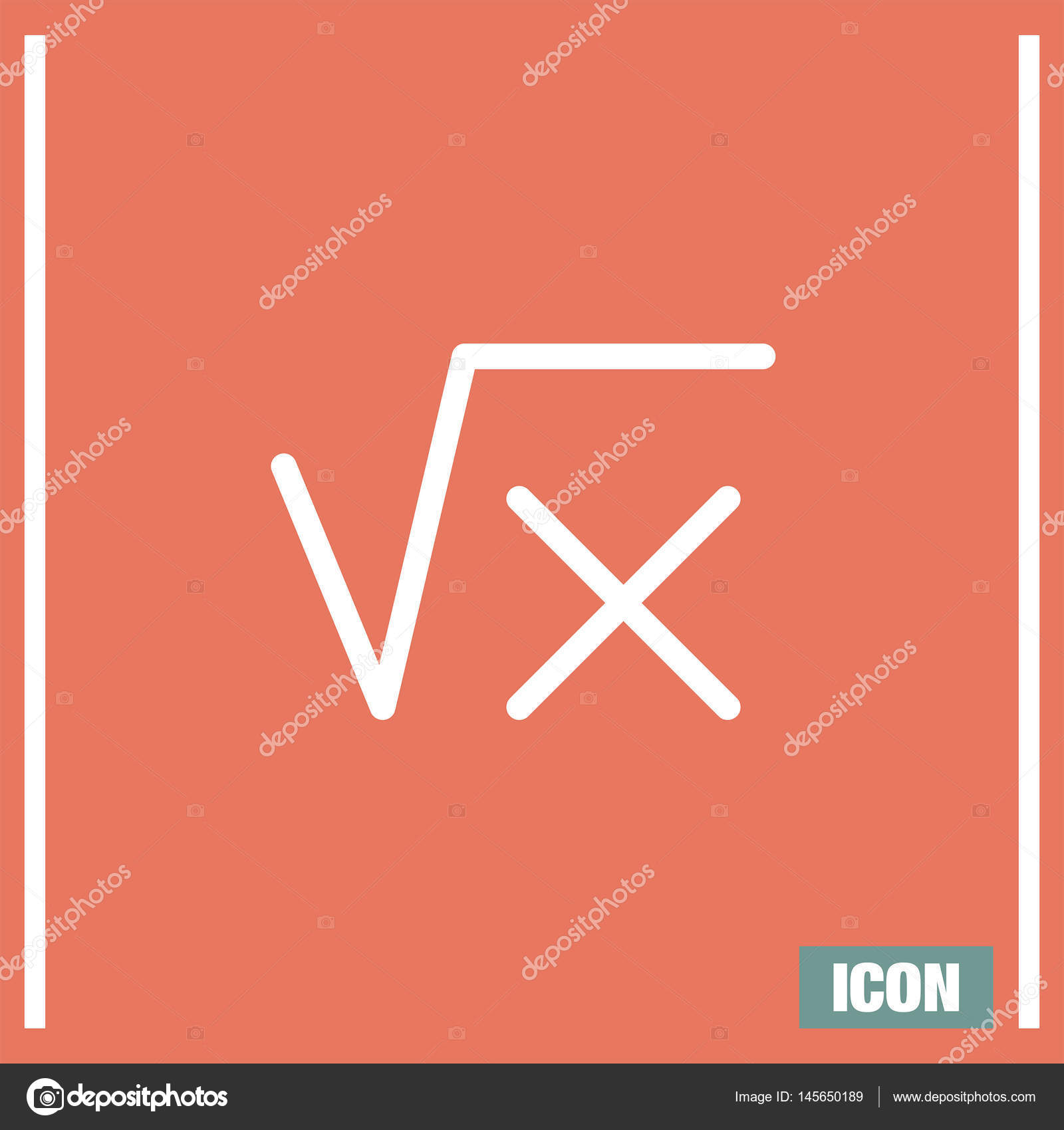 Square Root Sign Stock Vector Quka 145650189
