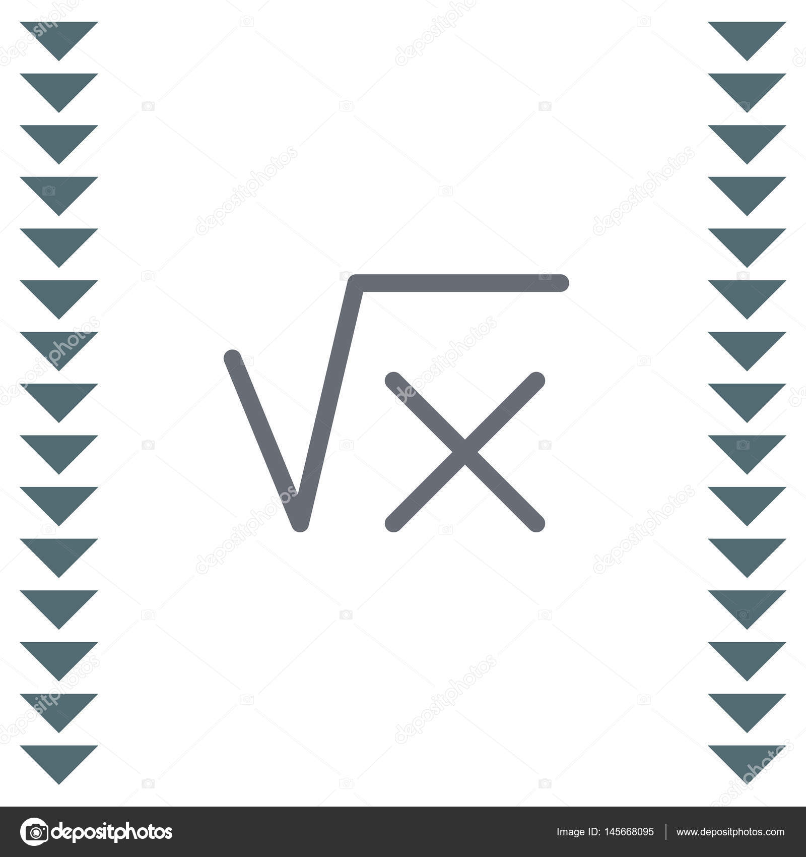 Square Root Sign Stock Vector Quka 145668095