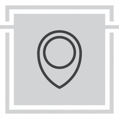 Placeholder map pin line icon