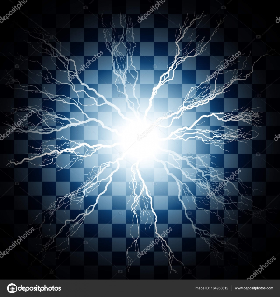 Lightning flash light thunder spark — Stock Vector © quka #164958612 for Flash Light Vector Background  67qdu