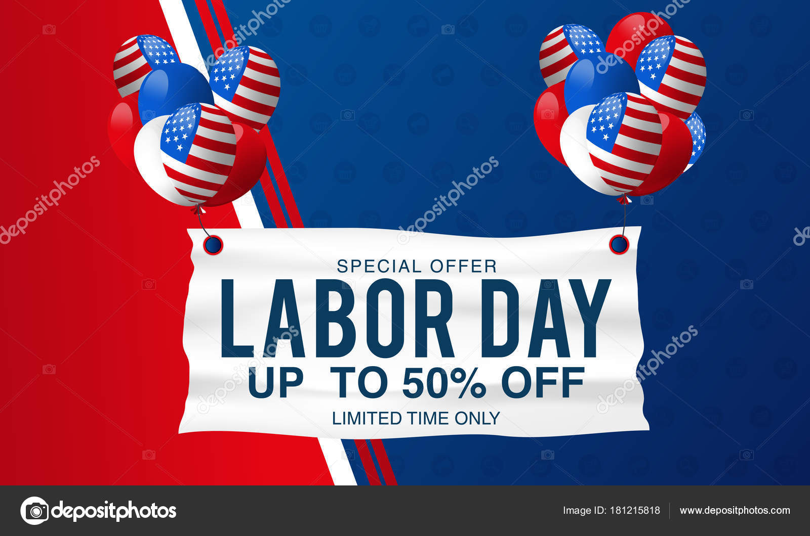 labor day sale promotion advertising banner template decor american