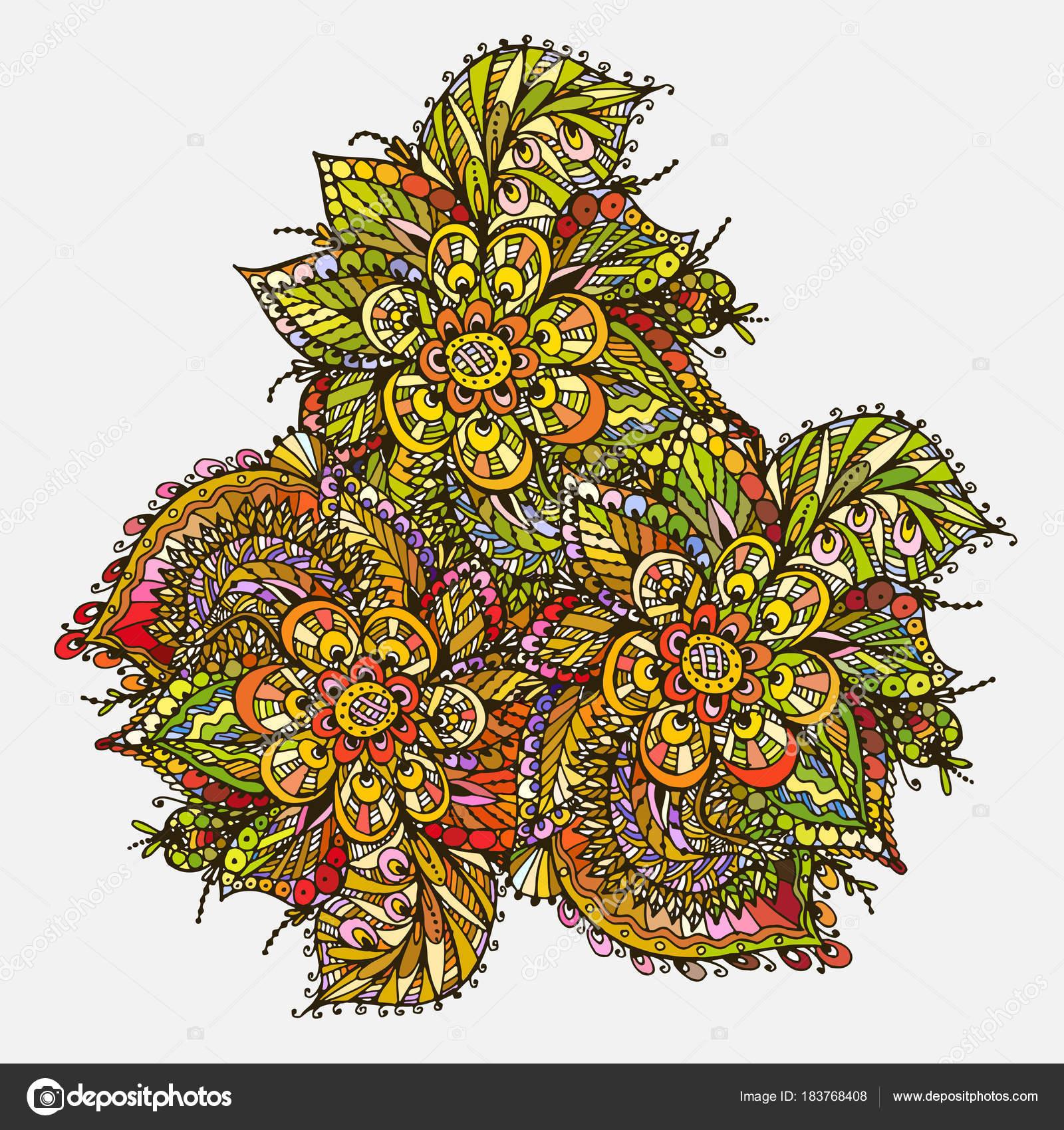 Vektor Bild Doodle Zeichnung für das Mandala Malvorlagen. triangula ...