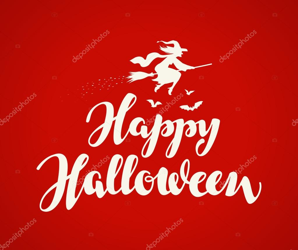 Happy halloween banner holiday message beautiful writing stock happy halloween banner holiday message beautiful writing stock vector m4hsunfo