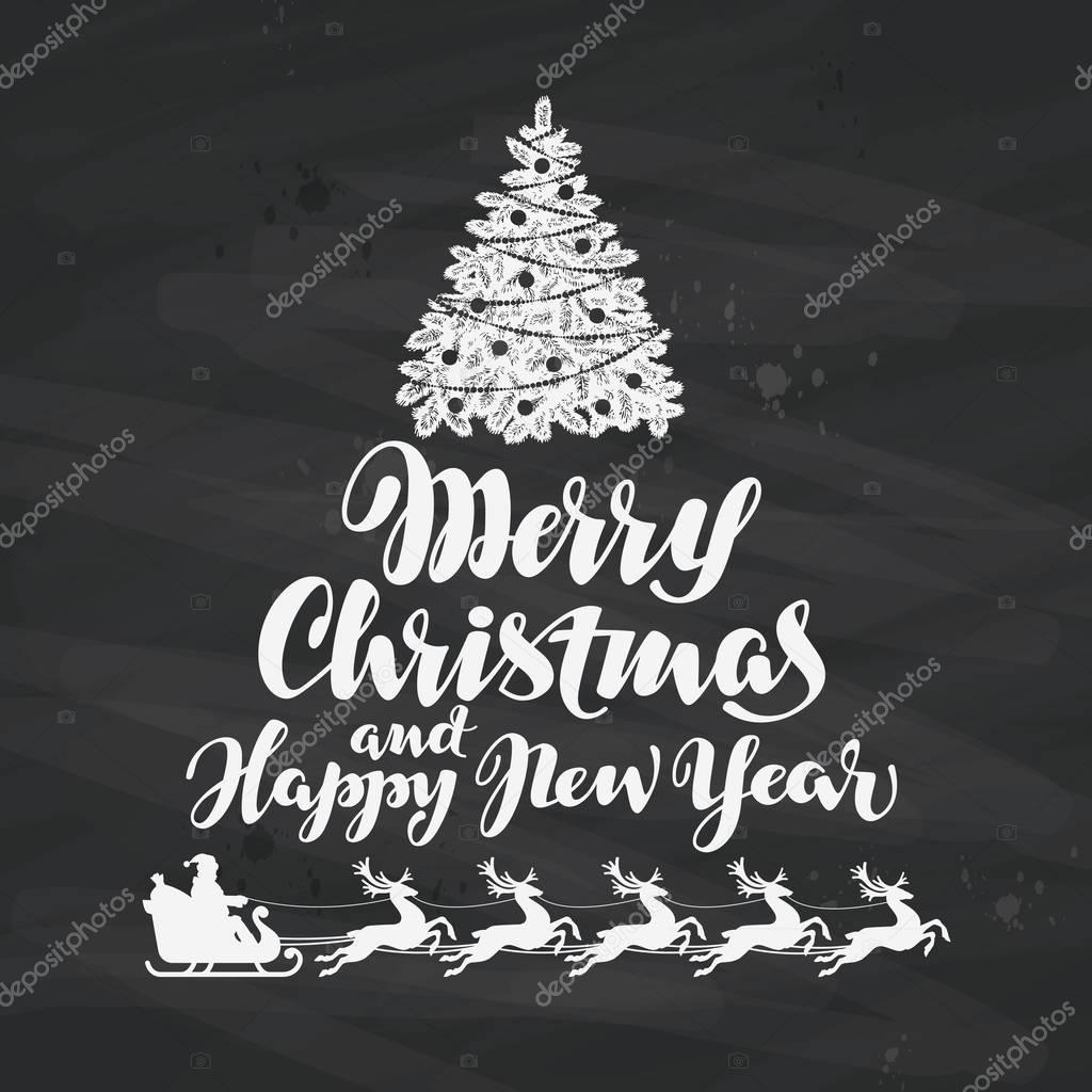 Felicitaciones Escritas De Navidad.Navidad Felicitaciones Escritas En Pizarra Negra
