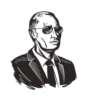 Putin, President of Russia. Vector