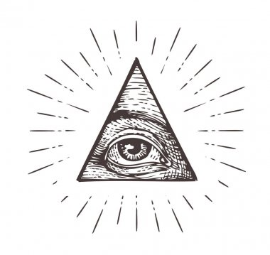 All seeing eye symbol. Vector illustration