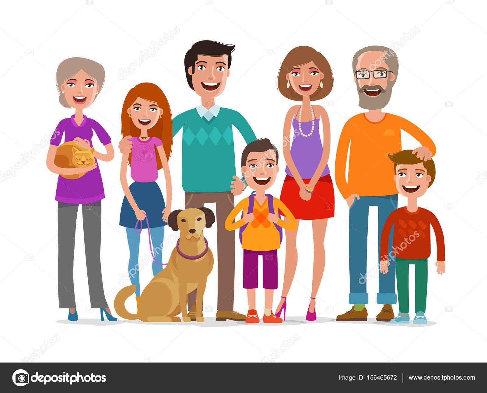 Dibujos: Animados De Grupos De Personas