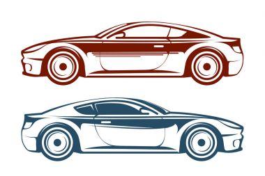 Racing car, vehicle, auto vector illustration