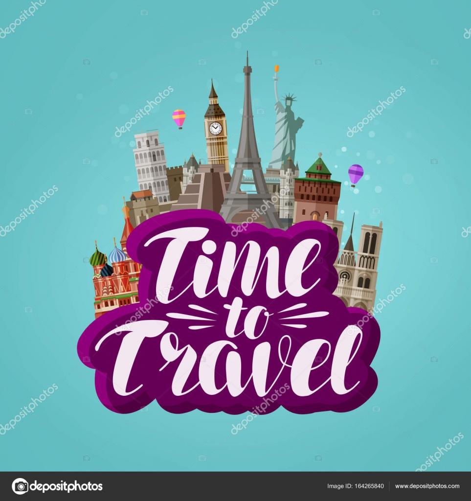 Tiempo de viaje de la bandera viaje viajando por el mundo concepto vector ilustraci n de - Banera de viaje ...