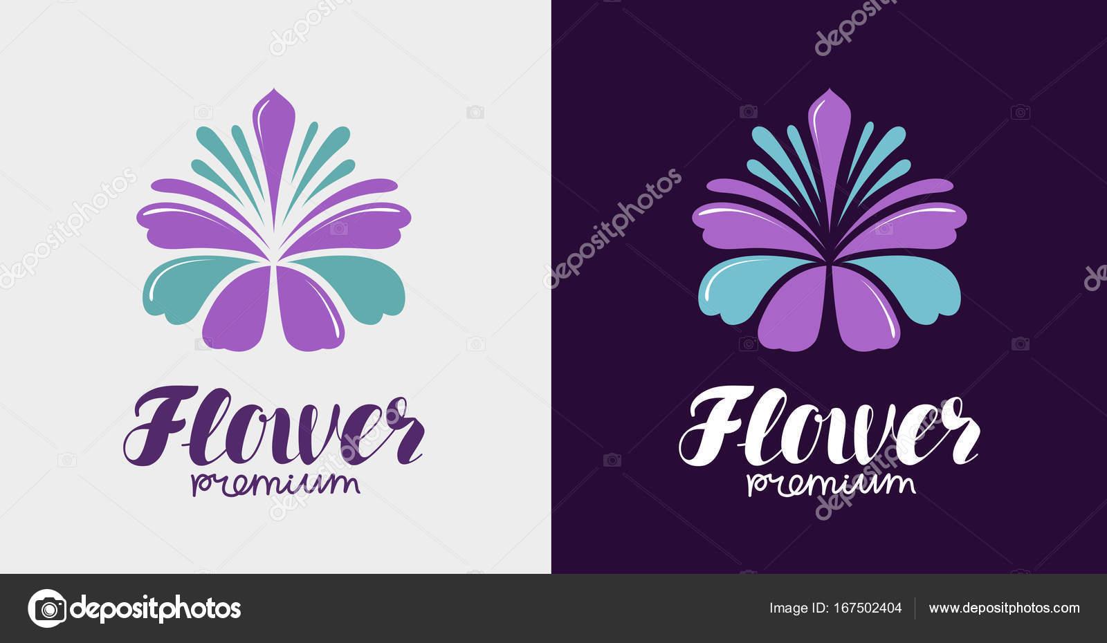 Logo de la fleur  Spa, salon de beauté, icône de la