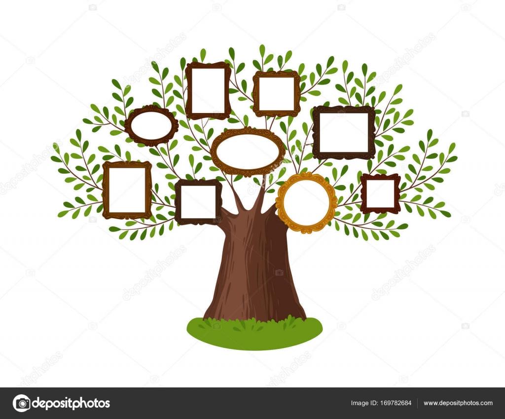 Árbol genealógico de la familia con marcos. Pedigree, genealogía ...