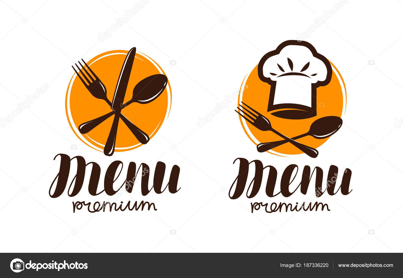 restaurant menu, logo or label. cooking, cuisine concept. vector