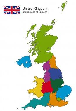 United Kingdom and regions of England