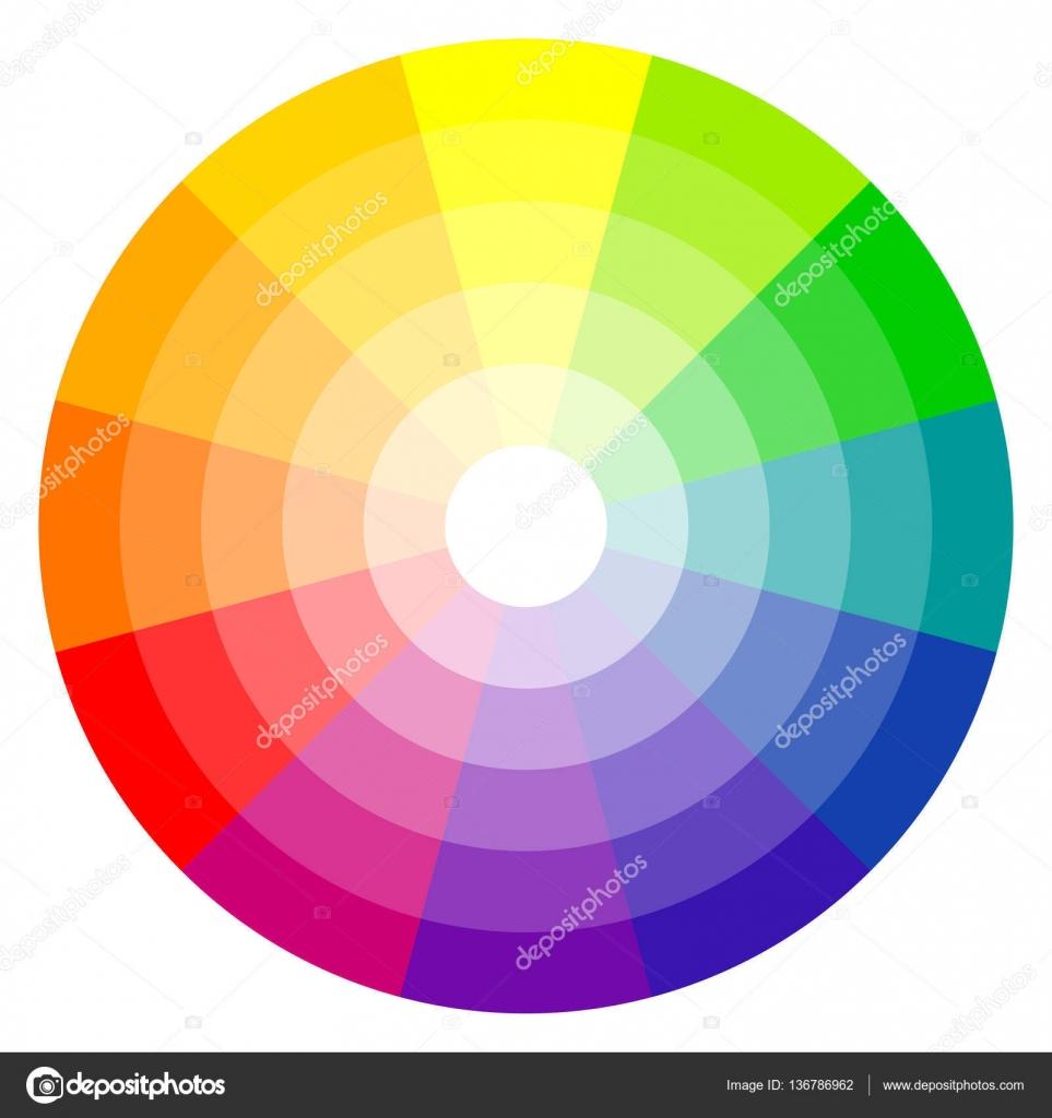 color wheel 12 colors stock vector opicobello 136786962. Black Bedroom Furniture Sets. Home Design Ideas