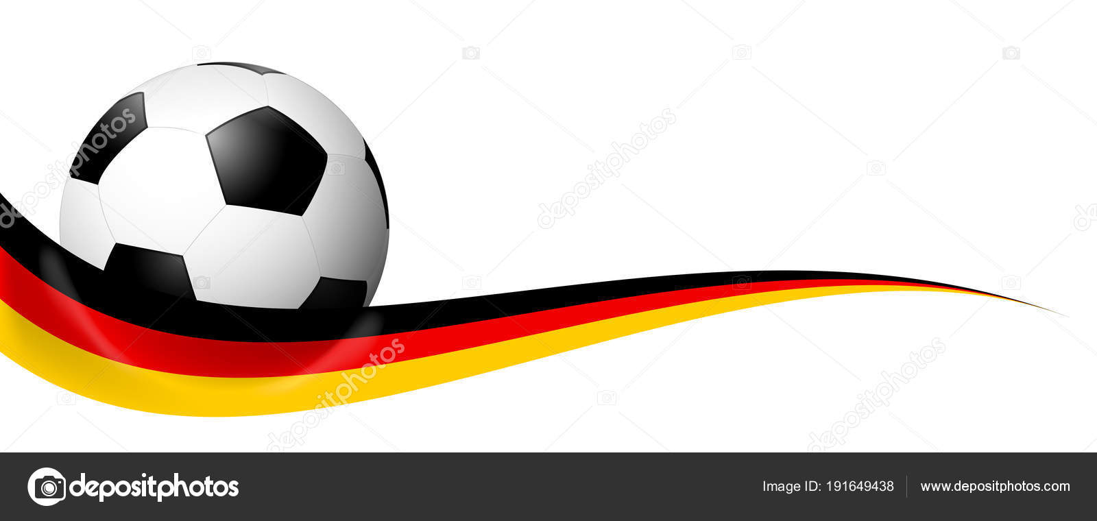 soccer ball behind german banner stock vector opicobello 191649438