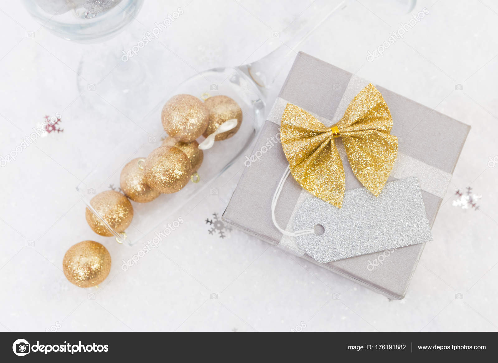 new year creative concept with blank label stock photo