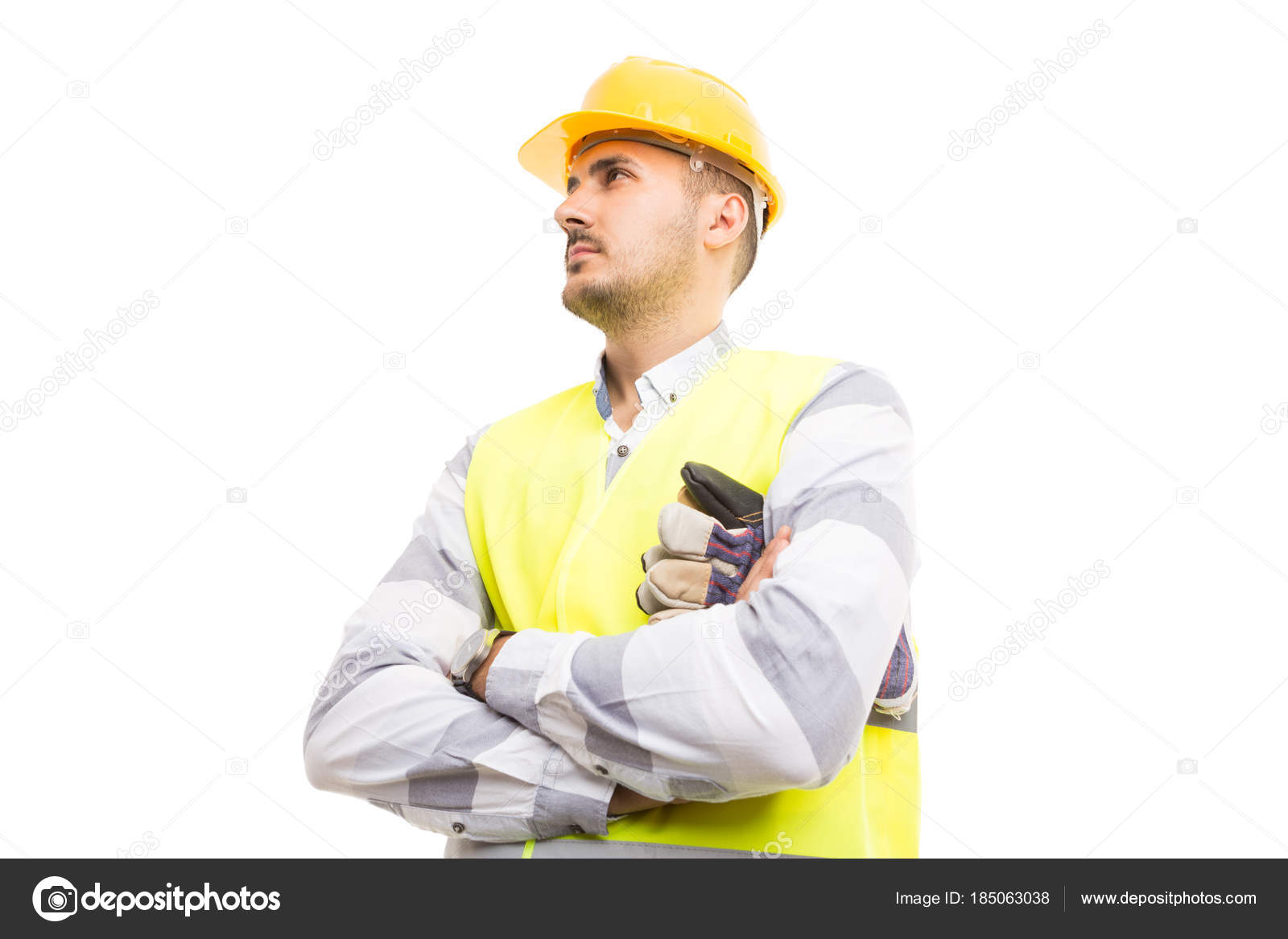 Visionary Architect Or Builder Looking U U2014 Stock Photo