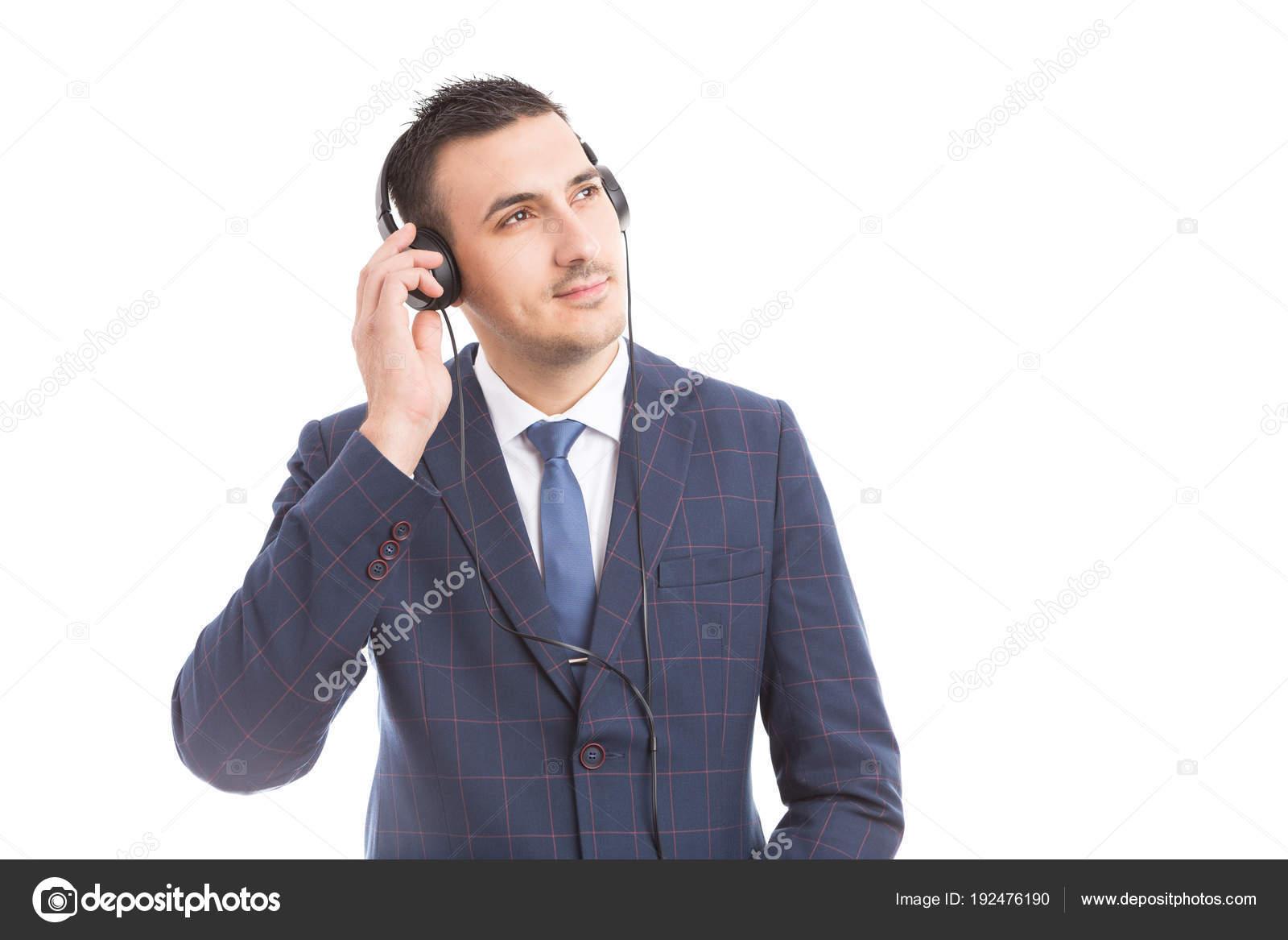 Empresário De Ouvir A Palestra Motivacional Stock Photo