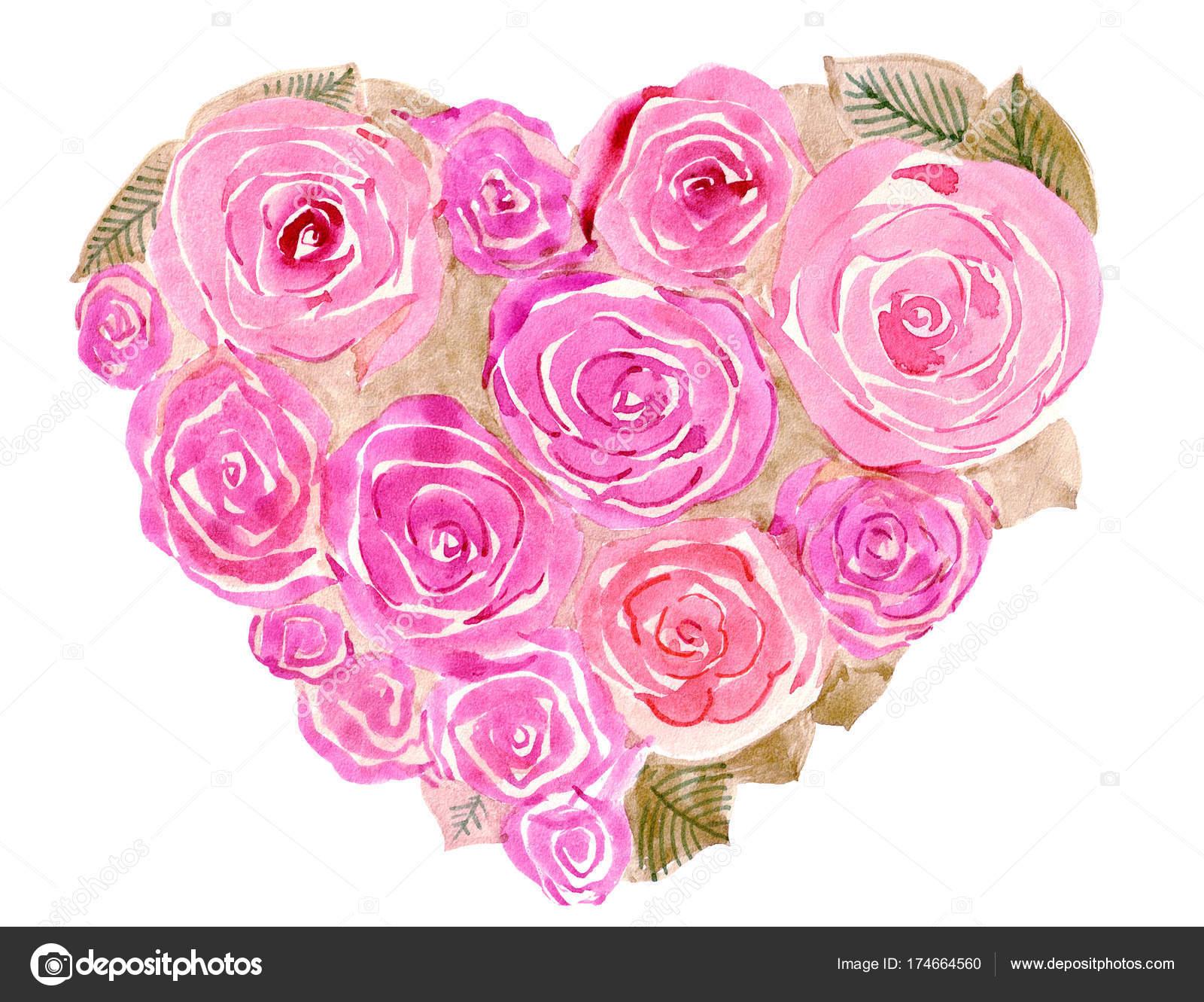 Aquarelle dessin bouquet fleurs photographie ludmilla - Dessins de bouquets de fleurs ...