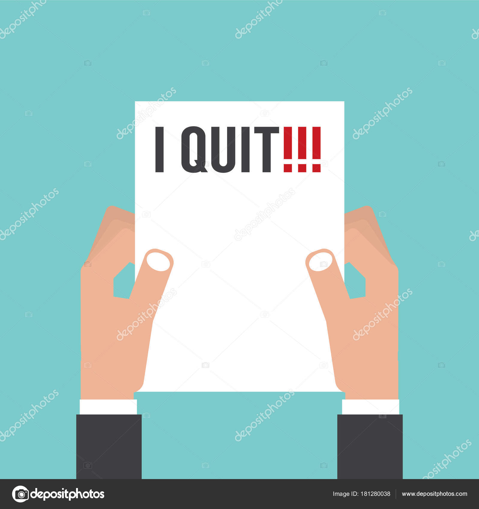 Hand holding envelope with text i quit job resignation letter hand holding envelope with text i quit job resignation letter concept vector illustration stock spiritdancerdesigns Gallery