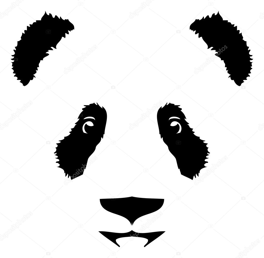 design logo with panda bear stock vector