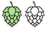 Chmelové pivo znak symbolu popisku