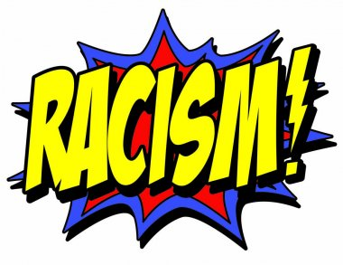 racism explosion sign