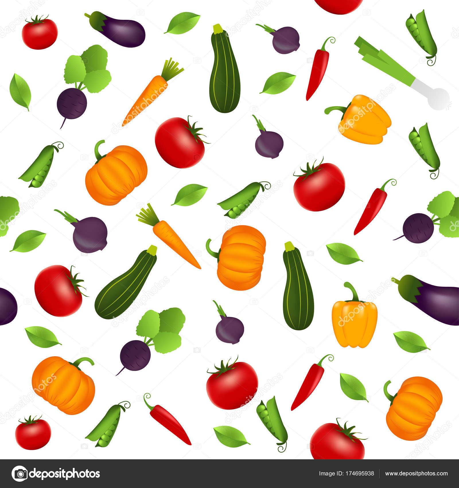 pattern background vegetables design greeting card summer invitation