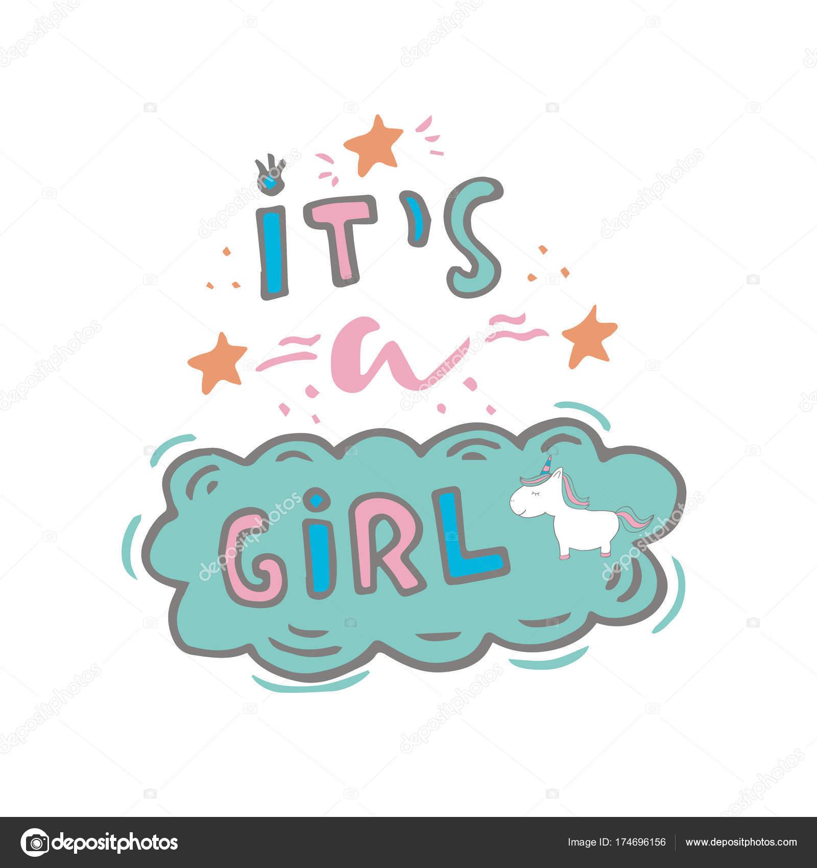 Baby Girl Unicorn Clipart Baby Girl Shower Clipart Baby t