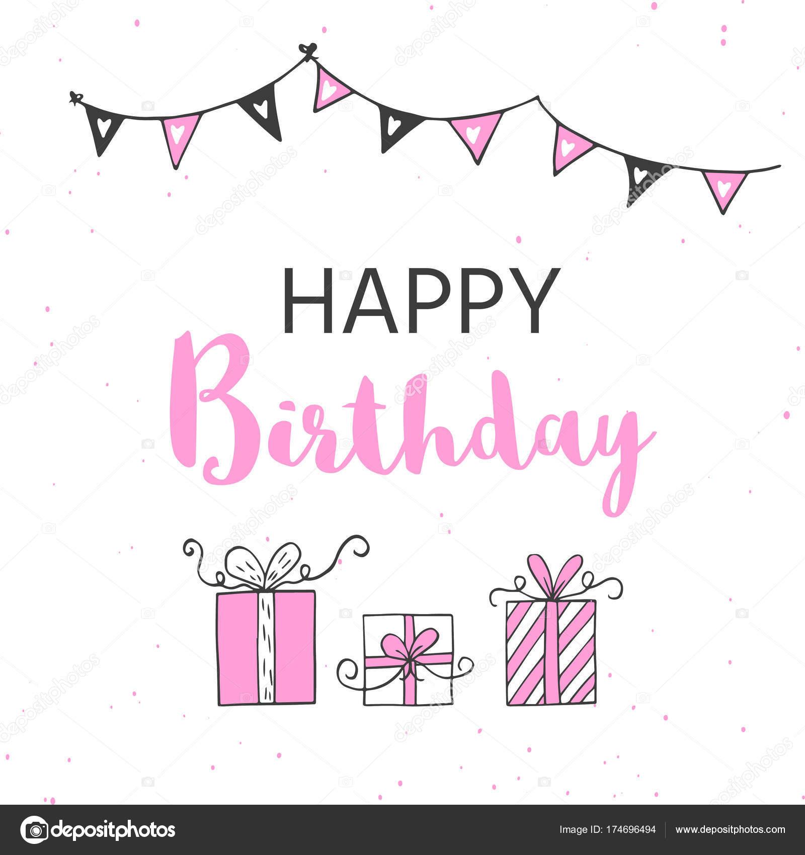 Feliz Cumpleaños Tarjetas Felicitación Partido Invitación Plantilla ...