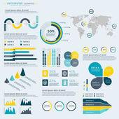 Infographics Elements Collection - business vector illustration for presentation, booklet, website, blog, workflow layout, brochure, banner, card, step up options, web design poster flyer timeline