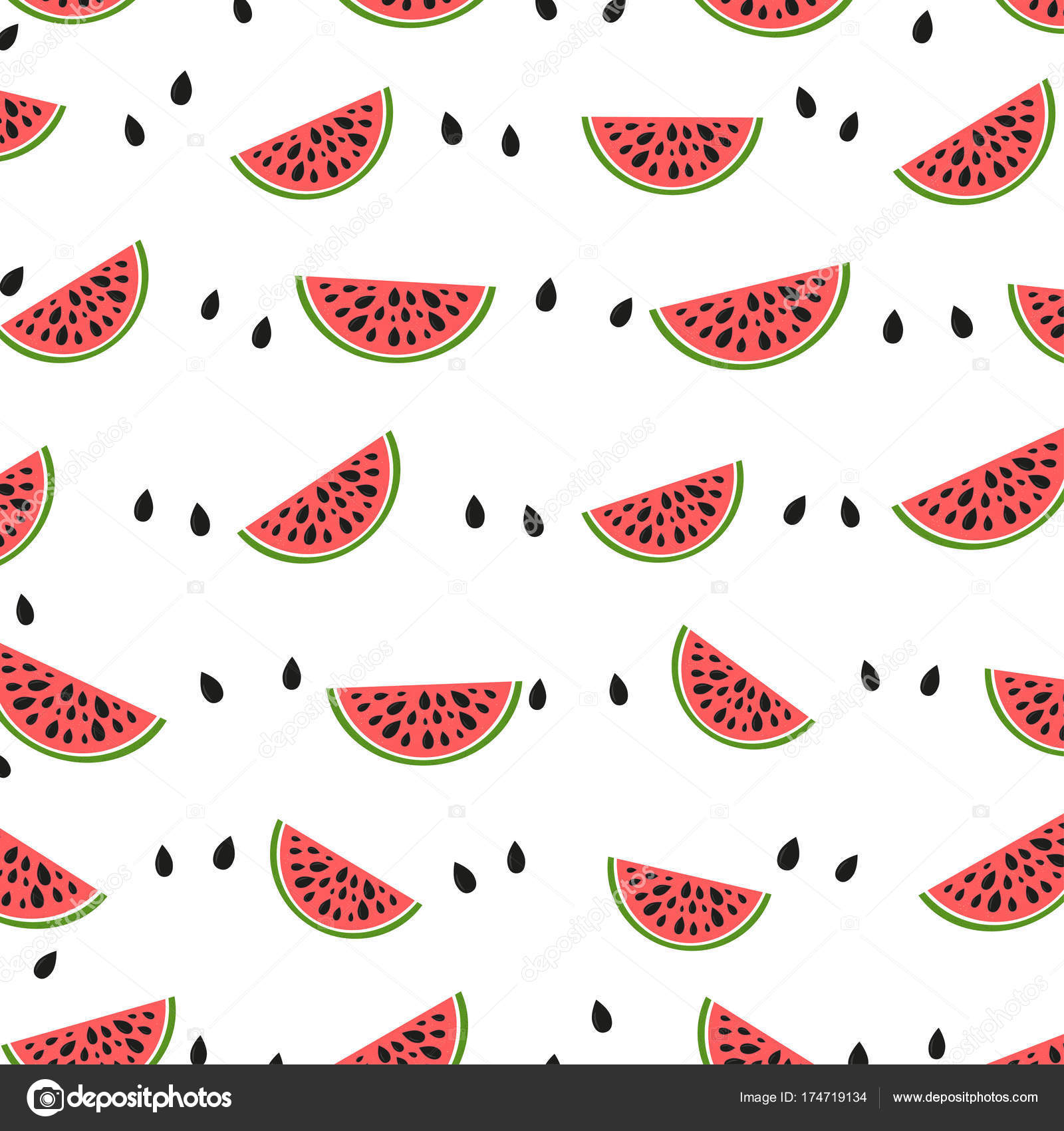 seamless geometric background watermelon slices design greeting card