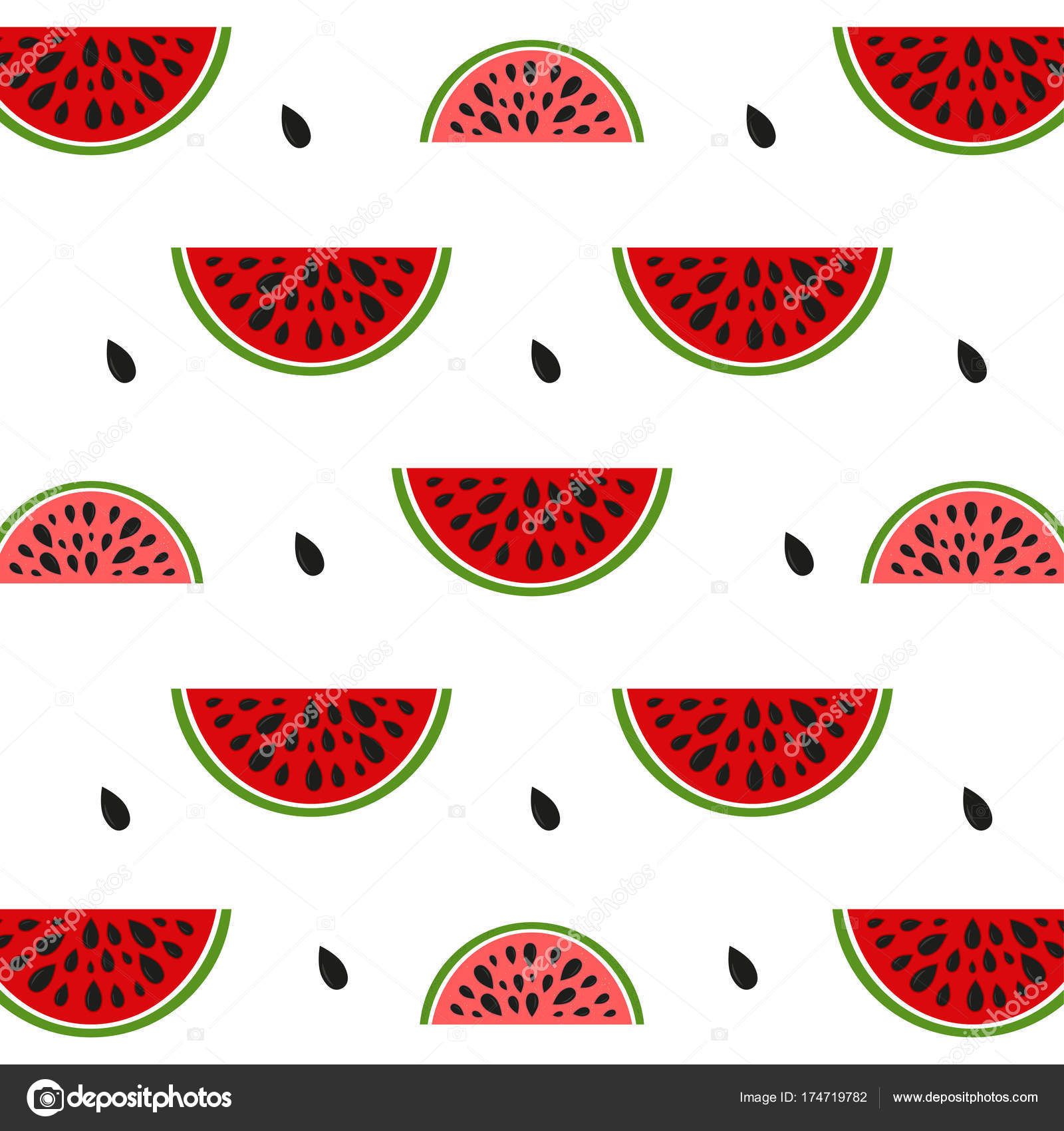 pattern background watermelon design greeting card summer invitation