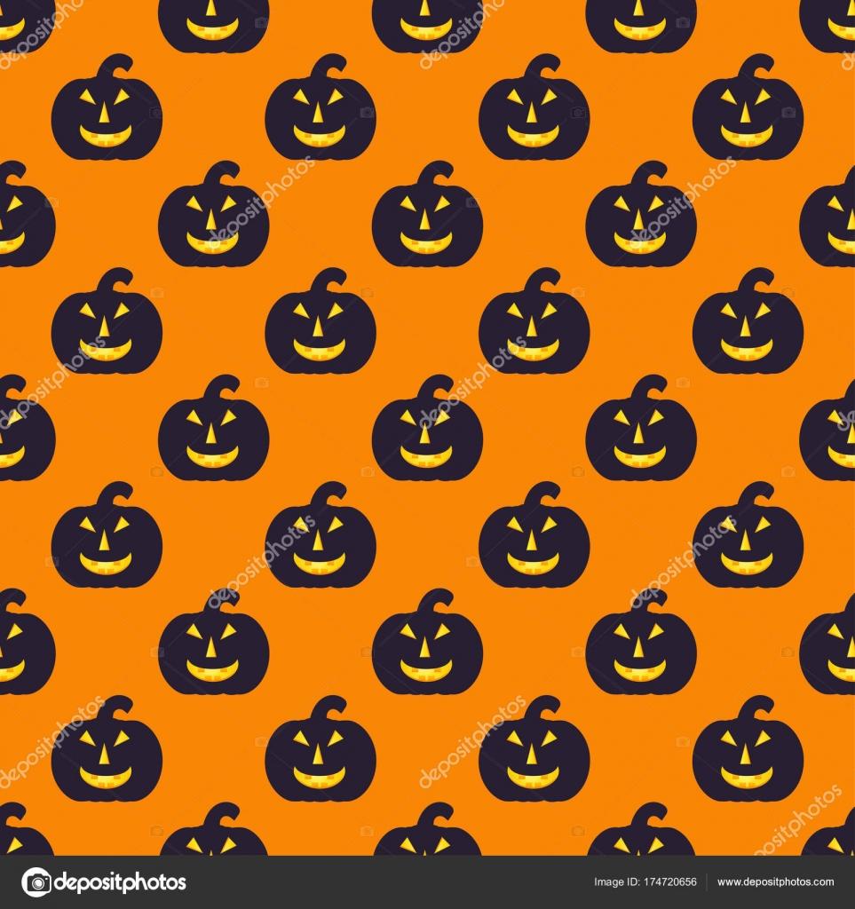 Bezszwowe Halloween Wzór Czarny Dynia Niekończące Się Konsystencja