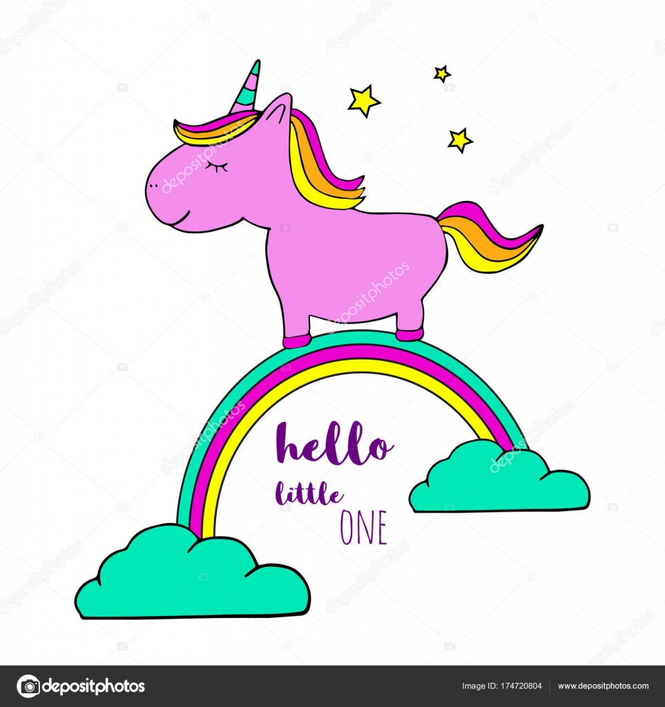 Cute Magical Unicorn Sweet Kids Graphics Card Shirts Baby Shower