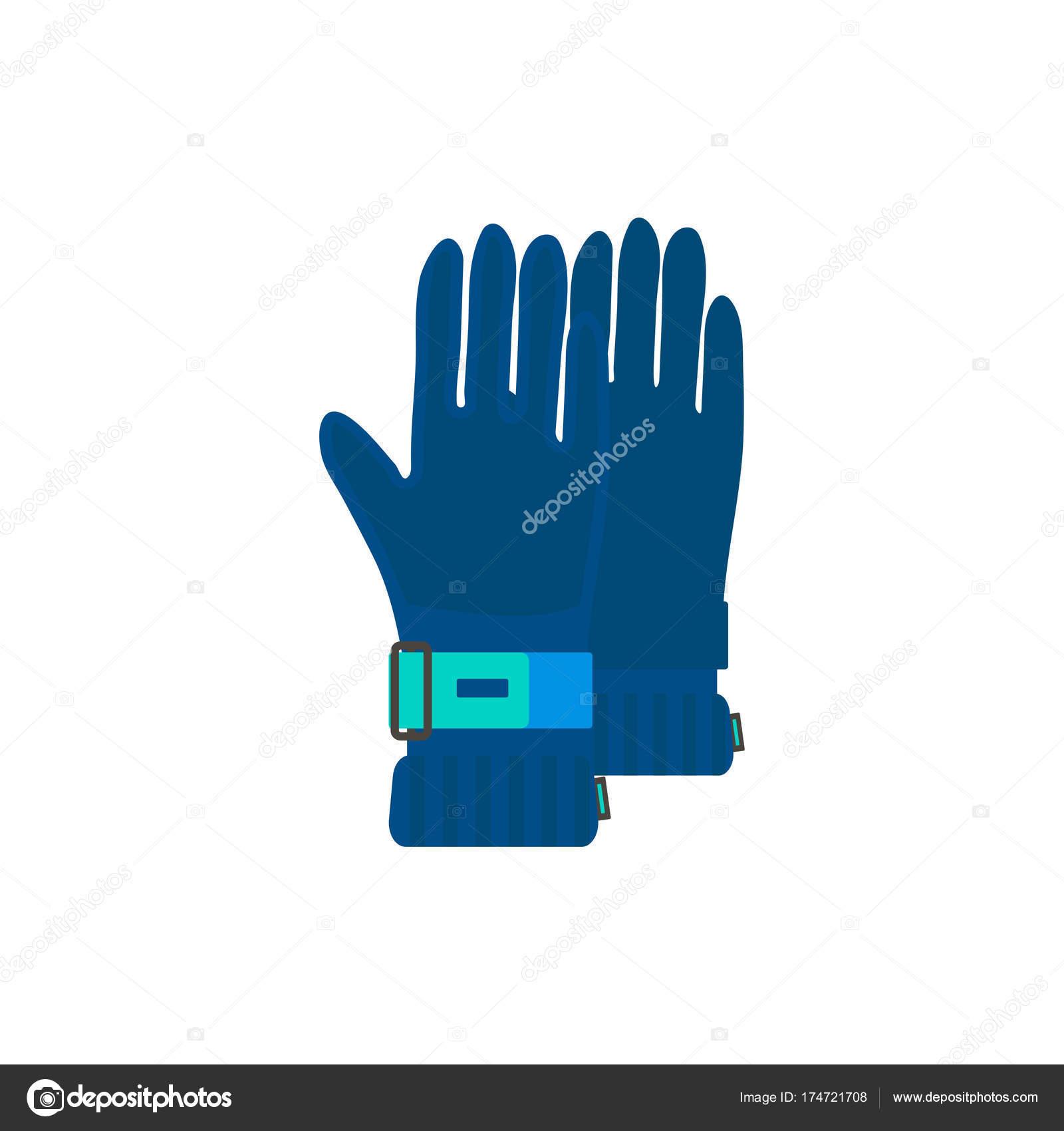 Zimní Sportovní Ikona Rukavice Pro Lyžování Snowboarding Izolovaných Bílém  Pozadí — Stockový vektor 4ae739ebe9