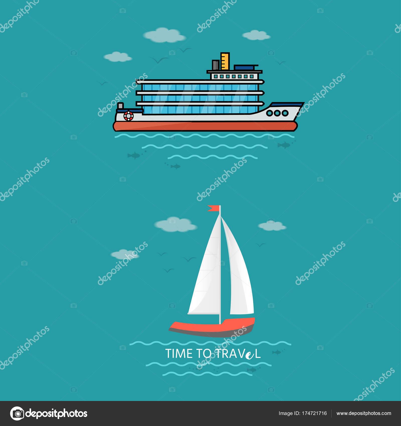 Sammlung von nautischen Fahrzeuge — Stockvektor © TanyaSun #174721716