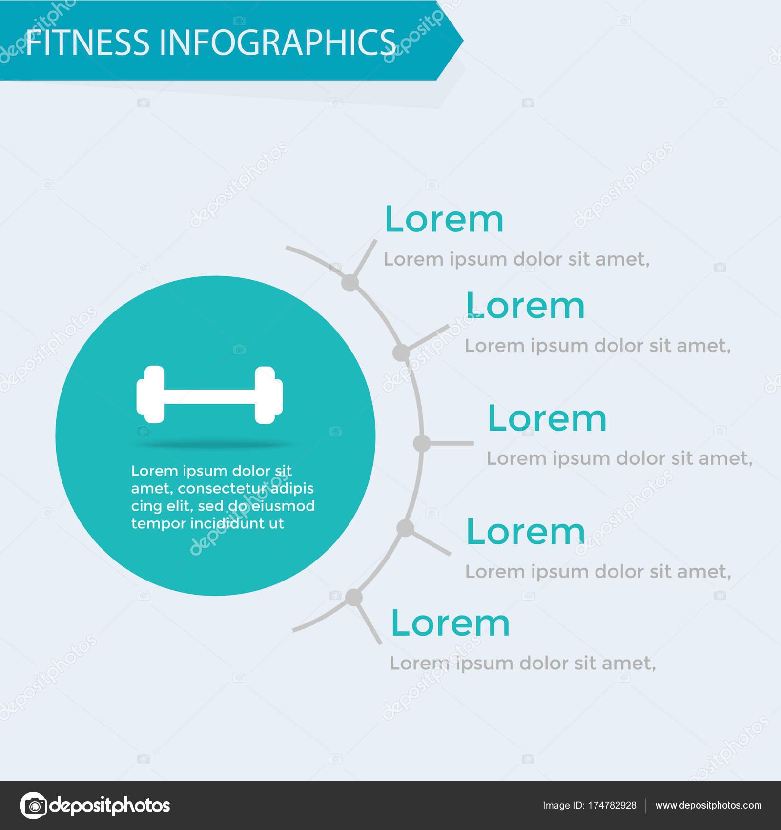Fitness Und Wellness Infografiken Vorlage Bodybuilding Cardio ...
