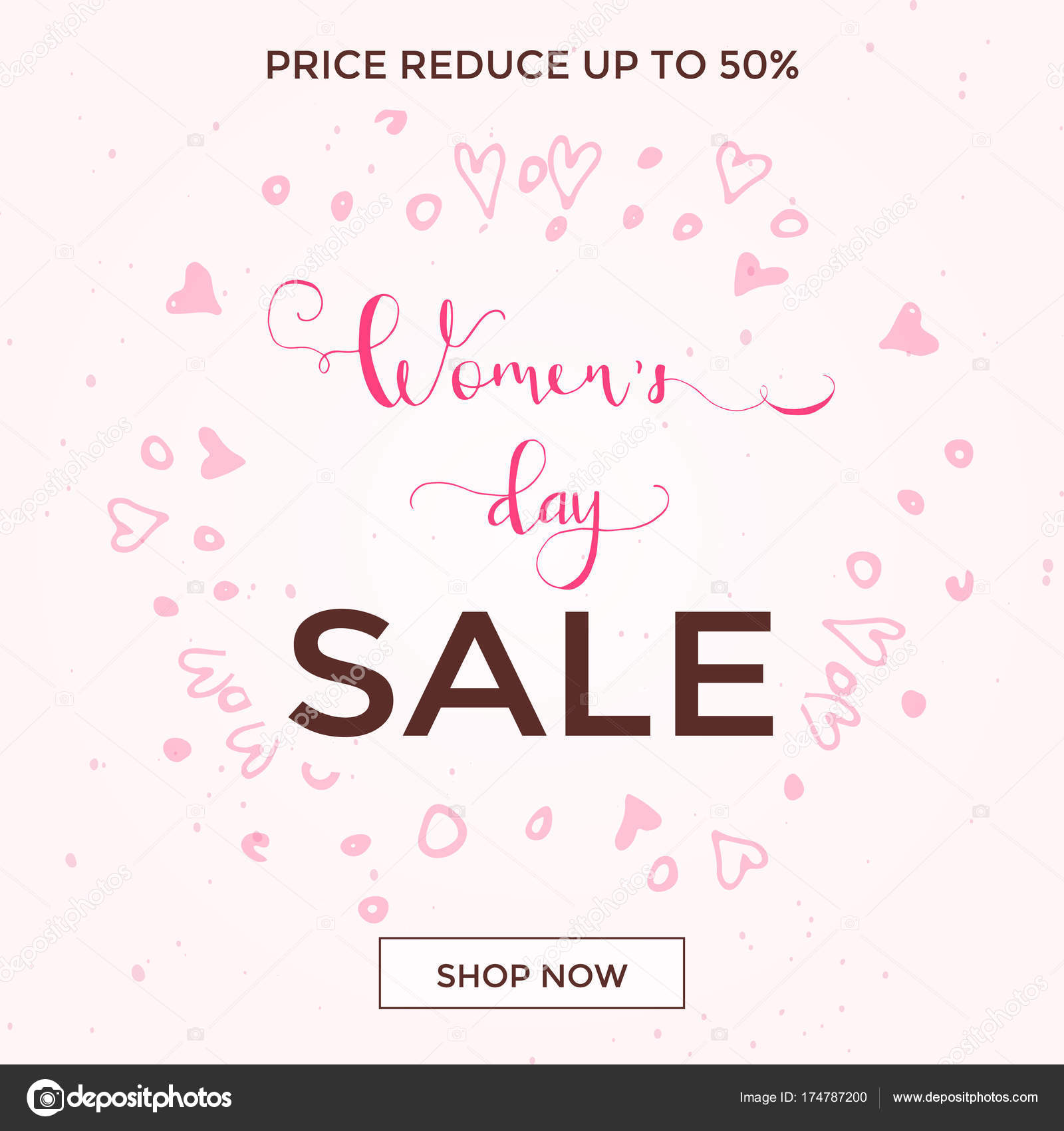Discount Greeting Card Design International Happy Women Day March